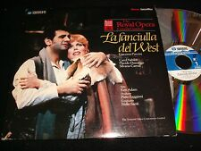 "LA FANCIULLA DEL WEST<>P DOMINGO<>2X12"" Laserdiscs<>PIONEER HOME VIDEO PA-83-056"