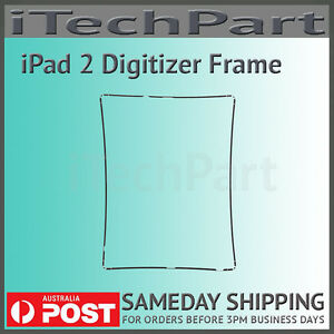 Black Touch Screen Digitizer Mid Frame Bezel Replacement Part For iPad 2  693014276914