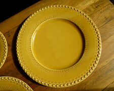 "CE Corey Fantasia Bordallo (2) Chargers Honey 13.5"" beaded edge dinnerware new"
