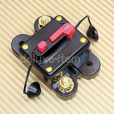 CAR MARINE BOAT BIKE STEREO AUDIO 12V-24V DC CIRCUIT BREAKER 80 AMP 80A 80AMP