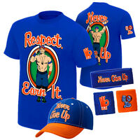 John Cena Respect Earn It Never Give Up Men Youth Kid Child T-shirt Baseball Hat