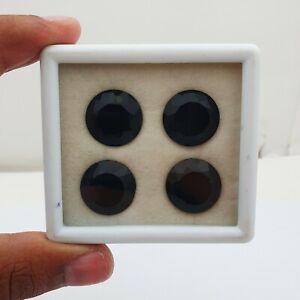 Natural Black Onyx Round Cut Loose Gemstone Lot 4 Pcs 23 MM 71 CT