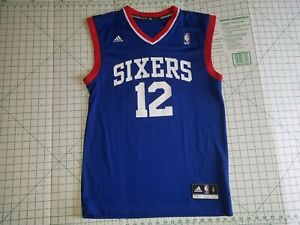 finest selection a638c 2a80d Details about Evan Turner #12 Philadelphia 76ers Sixers Jersey Blue NBA  Adidas MENS SMALL