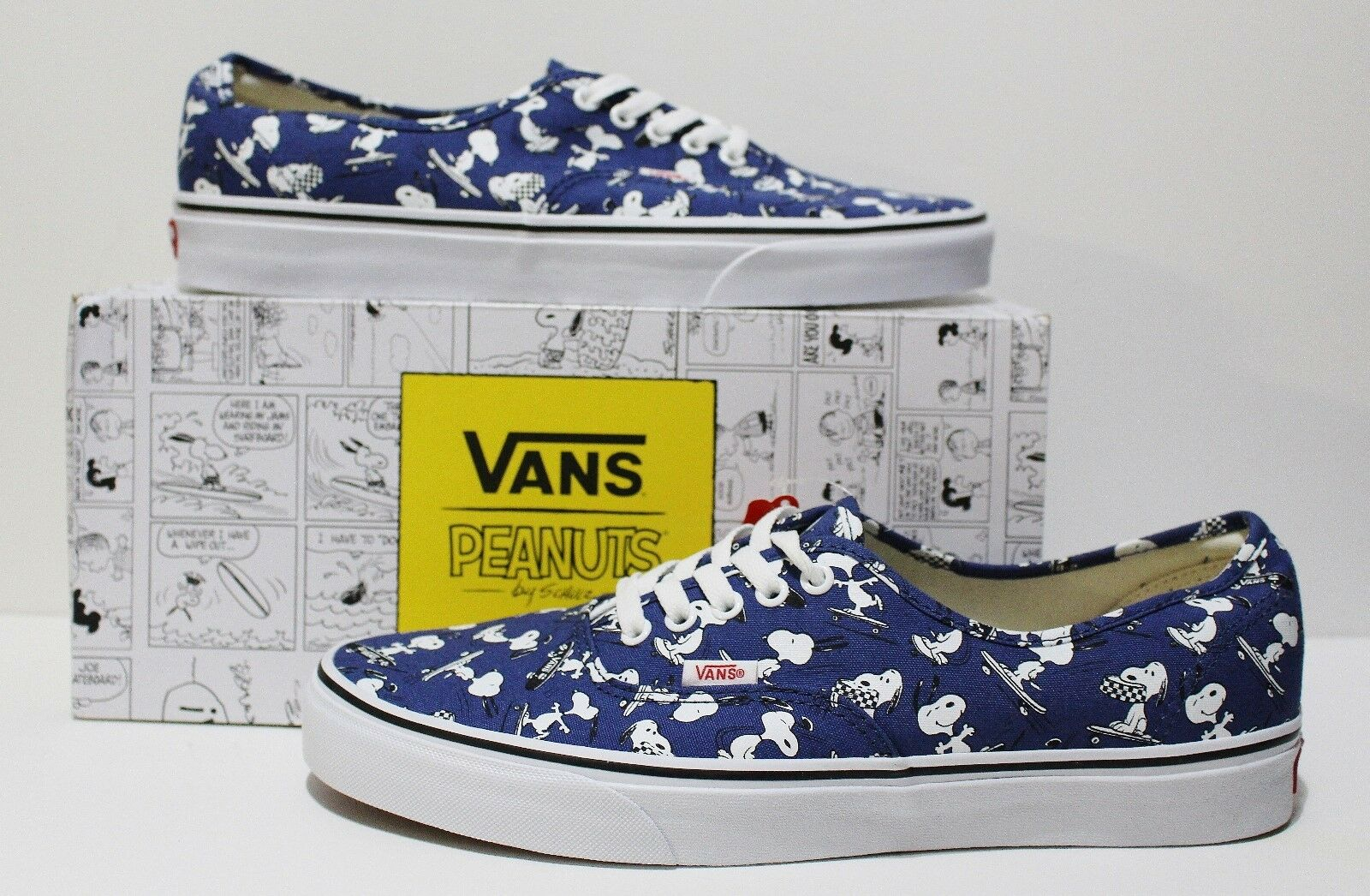 Vans Snoopy X Peanuts Authentic Snoopy Vans Skating Men's Size 9 5b5908