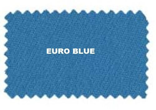 Pool Table Cloth Euro Blue VELOCITY PRO 8/' BED CLOTH /& RAILS