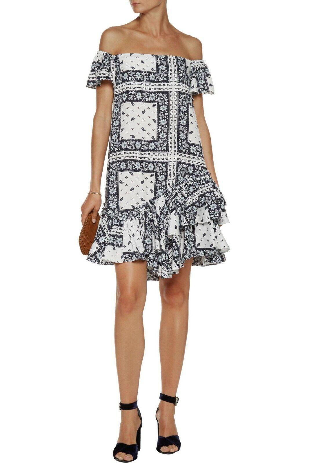 NWOT   Cinq a Sept Minella Off-The-Shoulder Dress 10