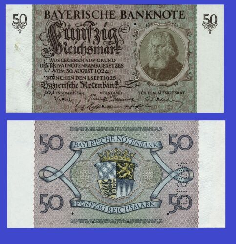 GERMANY 50 Reichsmark 1924  UNC Reproduction