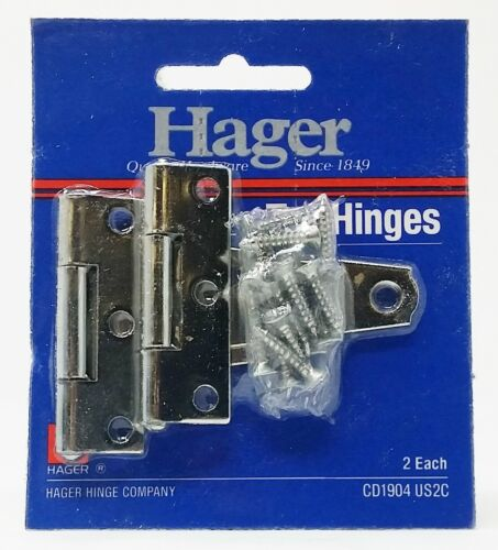 "Hager 2/"" Light Duty T-Hinge Tee CD1904-US2C Steel 4 Pack"