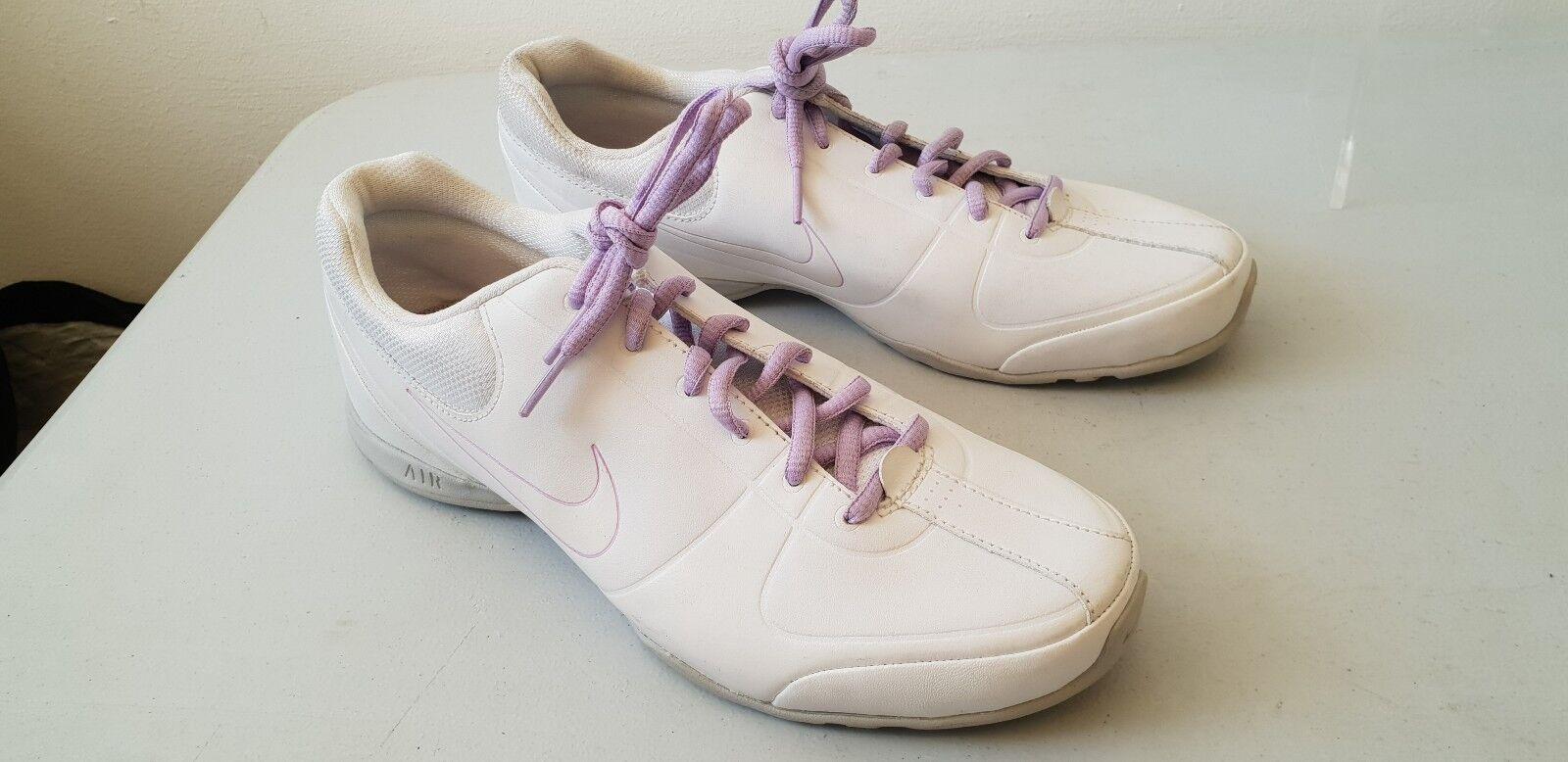 Nike air donne cardio formatori di pelle pelle pelle bianca, scarpe da ginnastica, t367a | Colori vivaci  19febe