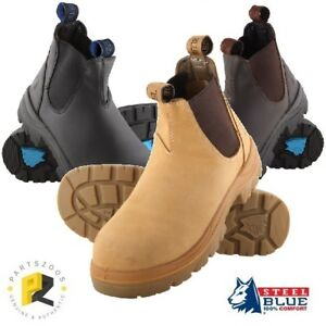e4d9cd7cbe6 Image is loading Steel-Blue-Hobart-Work-Boots-Slip-On-Safety-