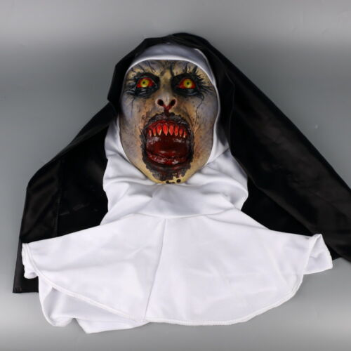 The Nun Valak Mask Cosplay The Conjuring Scary Mask Full Head Halloween Mask New
