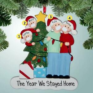 Christmas-Ornaments-Family-DIY-The-Year-We-Stayed-Home-Xmas-Tree-Hanging-Pendant