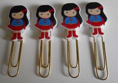 Cute Superhero Planner Paper clips - Kikki k Filofax EC Happy Planner Supergirl