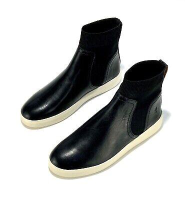 FRYE Women/'s Brea Chelsea Knit Collar Leather Sneakers Black Multiple Sizes