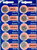 Cr 1616 Sony Lithium Batteries (10 Piece) 3v Watch Authorized Seller Exp 202