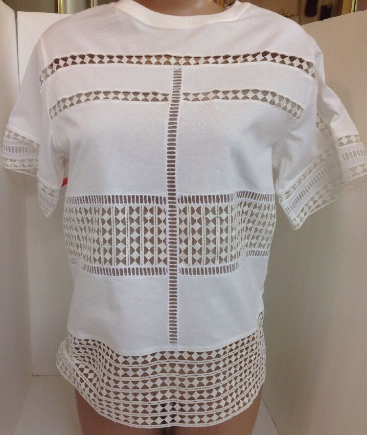Chloe Top White Embroiled Sleeves And Body Size SML