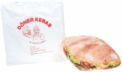 Cojín grande Donner Kebab Broma Novedad Regalo Adulto o niño Divertido Regalo De Cumpleaños