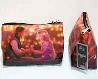 Disney Tangled Rapunzel & Flynn Boat Lanterns Cosmetic Make Up Bag Tote Purse