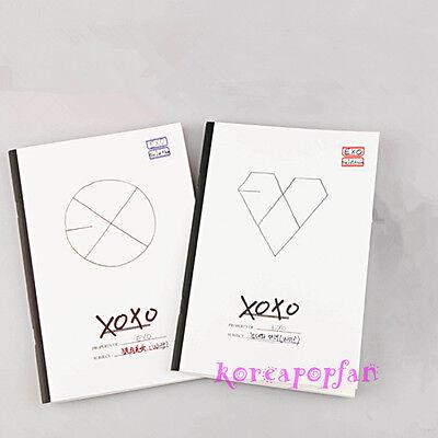 2PC EXO XOXO MAMA GROWL WOLF NOTE BOOKS KPOP NEW