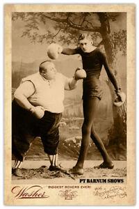 Fat boy skinny man boxing match ca1875 pt barnum circus sideshow image is loading fat boy amp skinny man boxing match ca stopboris Choice Image