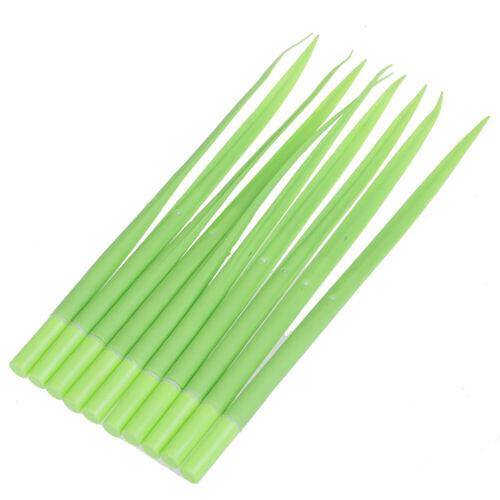 10 Pcs Green Grass Gel Pens Black Ink 0.38mm Ballpoint Pens  DIY Stationery gz