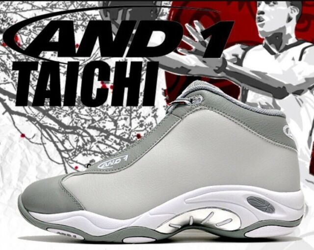 buy online 21057 fbb03 And1 Tai Chi Grey White Vince Carter NBA Gray Marbury Basketball Shoes Shox  sz 9