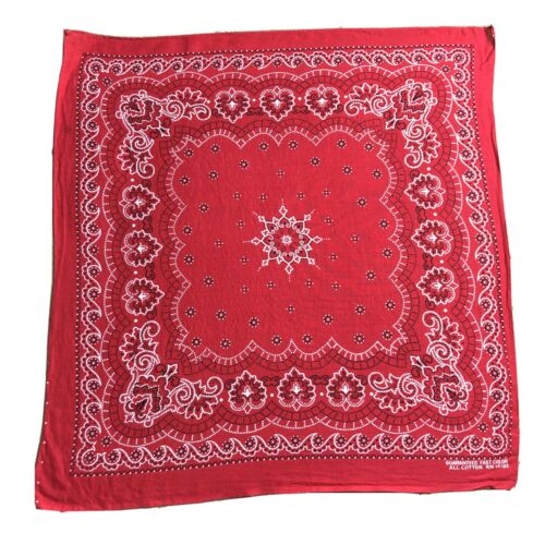 Vtg Bandana Turkey Red All Cotton Fast Color Weste