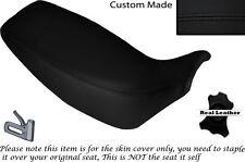BLACK STITCH CUSTOM FITS HONDA SLR 650 VIGOR 96-01 DUAL LEATHER SEAT COVER