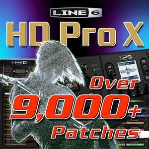 line 6 pod hd pro x patches presets for line 6 pod hd pro x huge time saver ebay. Black Bedroom Furniture Sets. Home Design Ideas