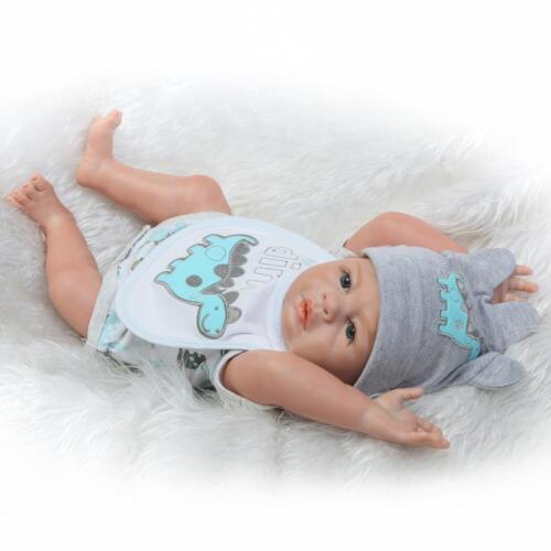 """20/"""" Reborn Baby Dolls Realistic Newborn Boy Doll Silicone Full Body Lifelike Toy"""