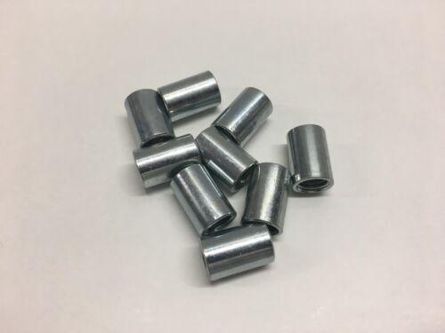Lot de 10 Entretoise Manchon Cylindrique taraudés M10x20mm acier zingué