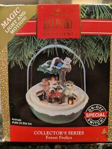 Hallmark-Keepsake-Ornament-1990-Series-Forest-Frolics-Magic-Light-Motion-Vintage