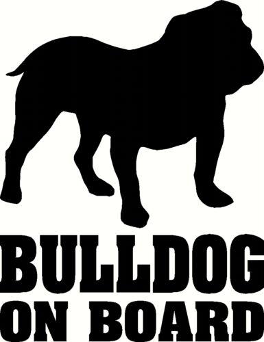 British Bulldog On Board Car Sticker silhouette decal window van Dog Lover uk