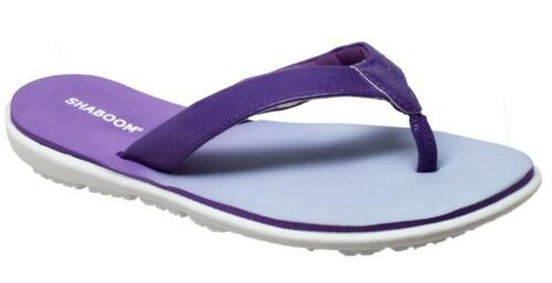 AdTec Women/'s Shaboom Thong Flip Flop Sandal Slip-On Dual Density Purple 8707