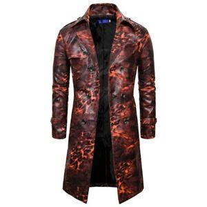 Men/'s Punk Double Breasted Metal Military Tunic Coat Jacket Outwear Parkas Zha19