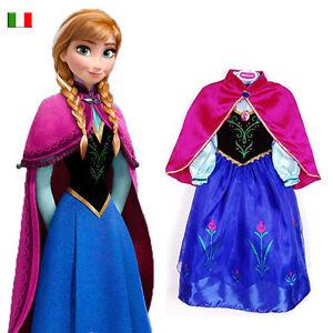 Vestito Costume Frozen 2 11 Anna Carnevale Anni Congelato Da rqrwtHWB