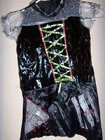 Girls Size 10/12 Halloween Monster Bride Costume 3 Pc Dress Hat Skirt