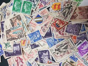 50-Francia-sellos-usados-todos-los-diferentes-Seleccion-De-Sellos-off-Paper