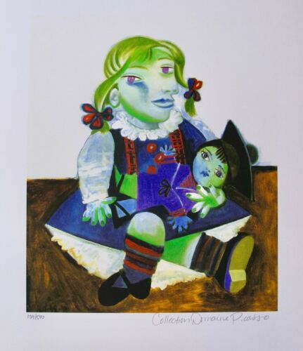 Pablo Picasso MAYA WITH DOLL Estate Signed /& Numbered Small Giclee Art