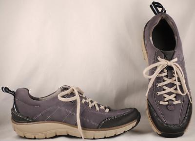 Women's Shoes Audacious Women's Clarks Navy Blue Waterproof Wavewalk Laceup Oxfords Us 9.5 M