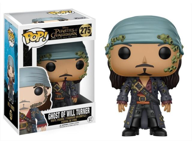 """PIRATES OF THE CARIBBEAN GHOST OF WILL TURNER 3.75"""" VINYL FIGURE POP  FUNKO"""