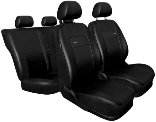 Car seat covers fit Volkswagen Lupo black  leatherette full set