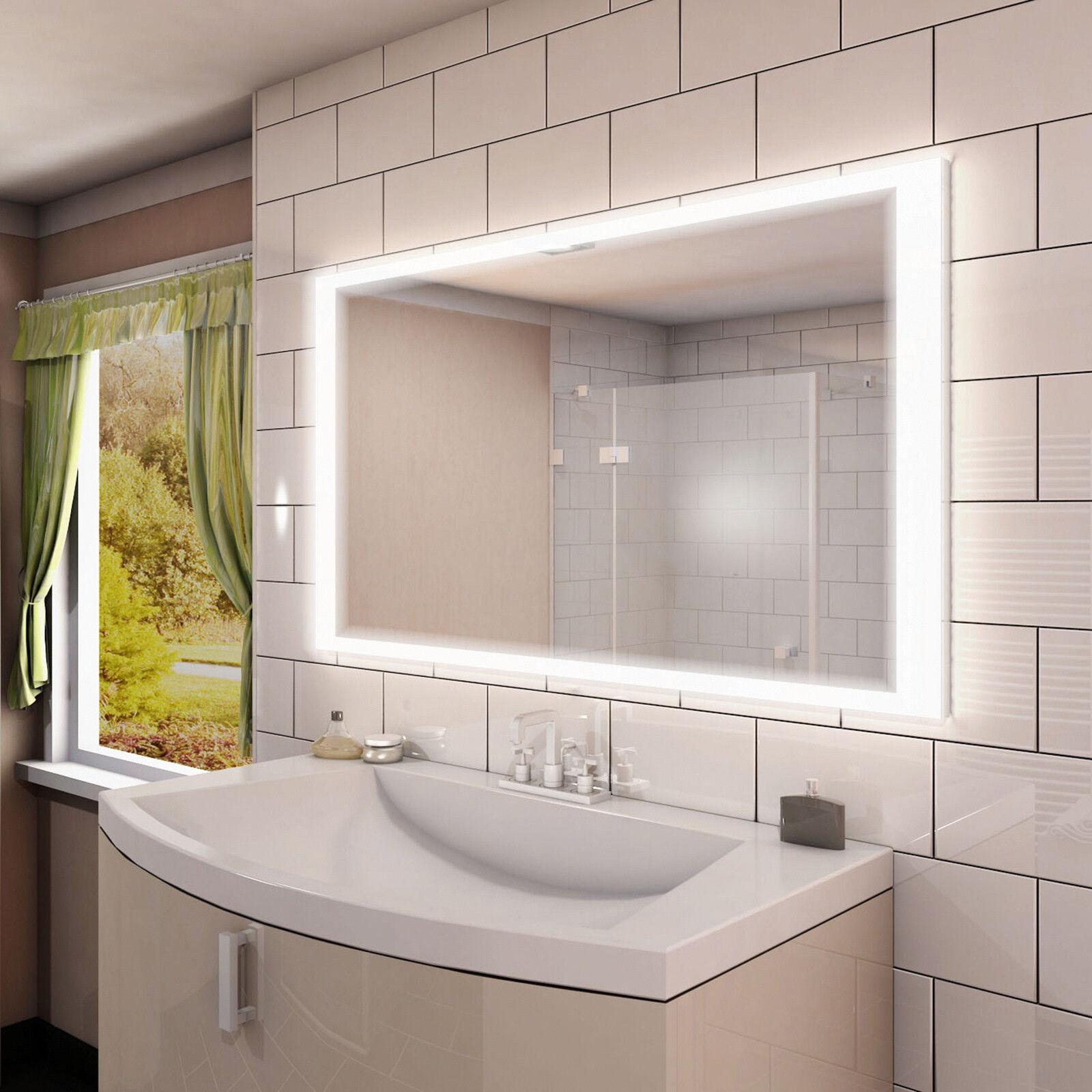 LED Badspiegel Spiegel nach Maß mit Beleuchtung Neutralweiss ☼ A7 ☼ MNJ1L4