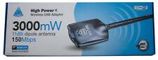 Melon Ralink RT3070 3000mW 3W USB Wireless Wifi 802.11B/G Adapter 11dBi 2.4Ghz