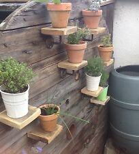 Handmade rustic industrial Garden Shelf Plant Stand made from recycled pallet X3