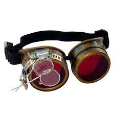 Steampunk goggles Zombie welding diesel punk biker goth cosplay rave lens CG R