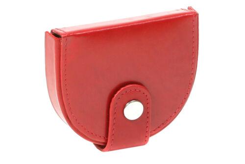 Kleine Schüttelbörse LEAS Geldbörse in Echt-Leder Portemonnaie rot