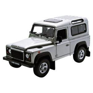 Welly-22498-Land-Rover-Defender-Argento-Scala-1-24-modello-di-auto-NUOVO