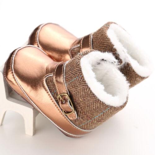 Toddler Infant Baby Girl Winter Snow Boots Soft Crib Sole Prewalker Kids Shoes