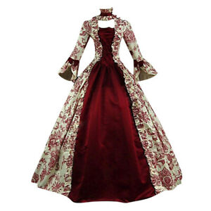 Women-Medieval-Dresses-Vintage-Marie-Antoinette-Christmas-Ball-Gown-Costumes-UK
